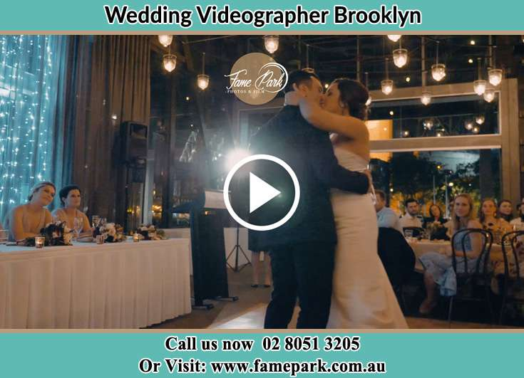 Bride and Groom kissed at the dance floor Brooklyn NSW 2083
