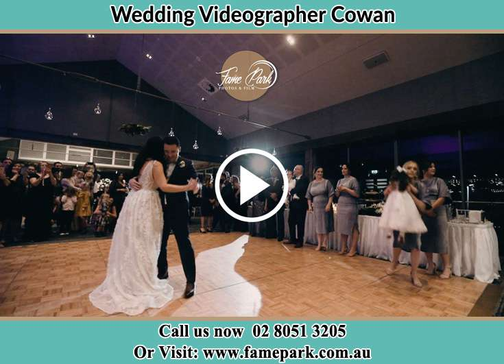 Bride and Groom at the dance floor Cowan NSW 2081