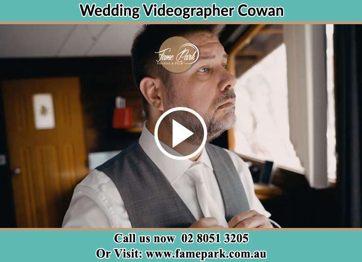 Groom getting ready for the event Cowan NSW 2081