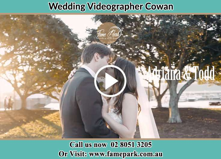 Bride and Groom kissed at the park Cowan NSW 2081