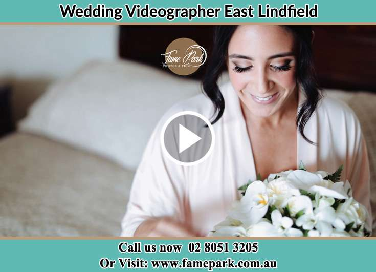 Bride holding a bouquet of flowers East Lindfield NSW 2070