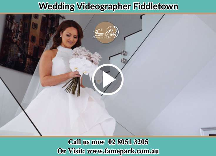 The Bride walking downstairs Fiddletown NSW 2159