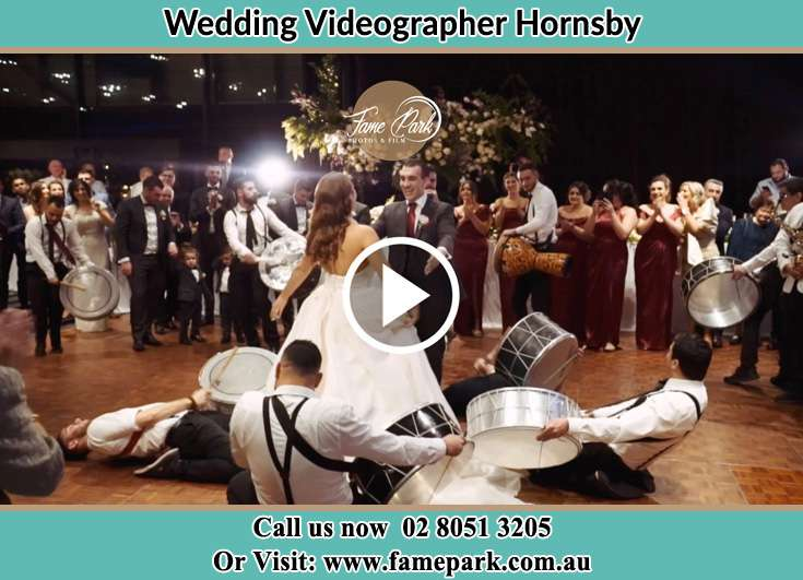The newlyweds dancing on the dance floor with the band Hornsby NSW 2077