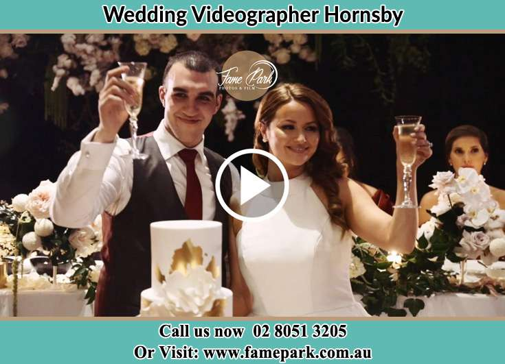 The newlyweds giving a toast to everyone Hornsby NSW 2077