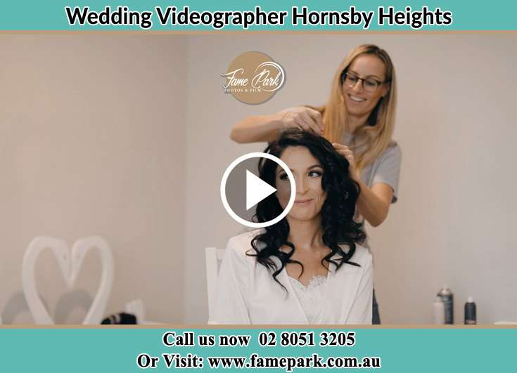A girl fixing the Bride's hair Hornsby Heights NSW 2077