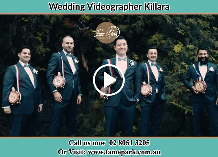 The Groom and his groomsmen smiling for the camera Killara NSW 2071