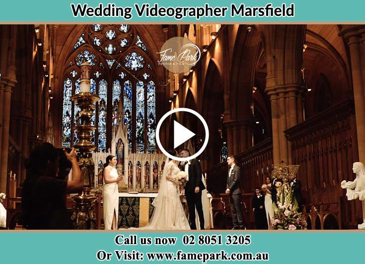 Bride and Groom kissed at the altar Marsfield NSW 2122