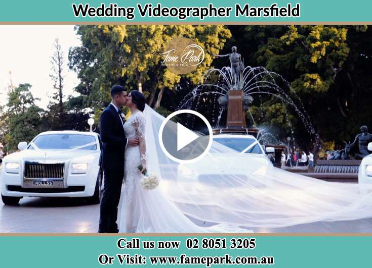 Bride and Groom kissed at the park Marsfield NSW 2122