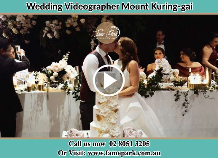 The newlyweds kissing Mount Kuring-Gai NSW 2080