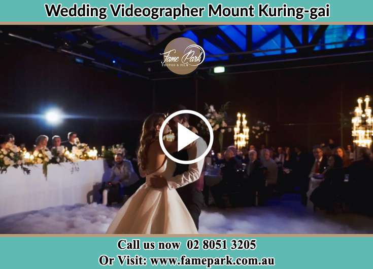 The newlyweds kissing on the dance floor Mount Kuring-Gai NSW 2080