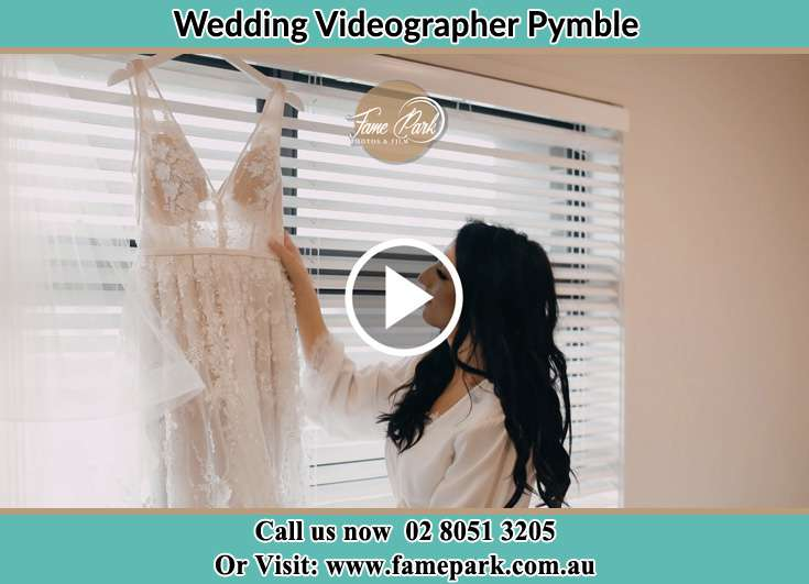 The Bride checking on her bridal dress Pymble NSW 2073