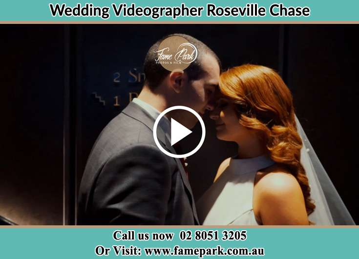 The newlyweds about to kiss Roseville Chase NSW 2069