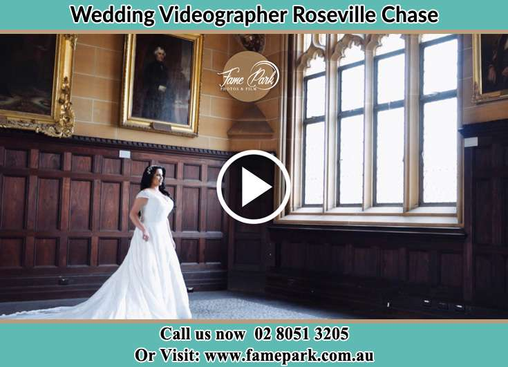 The Bride standing near the window Roseville Chase NSW 2069