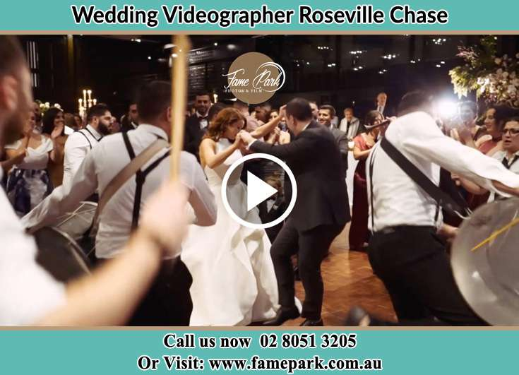 The newlyweds dancing on the dance floor with the band Roseville Chase NSW 2069