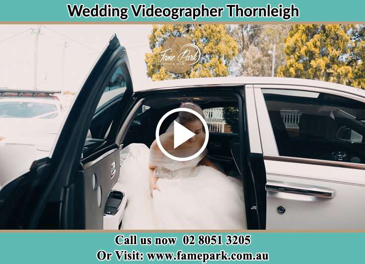 Bride getting out of the bridal car Thornleigh NSW 2120