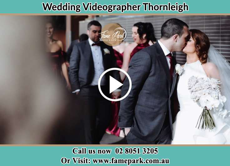 Bride and Groom kissed at the hallway Thornleigh NSW 2120