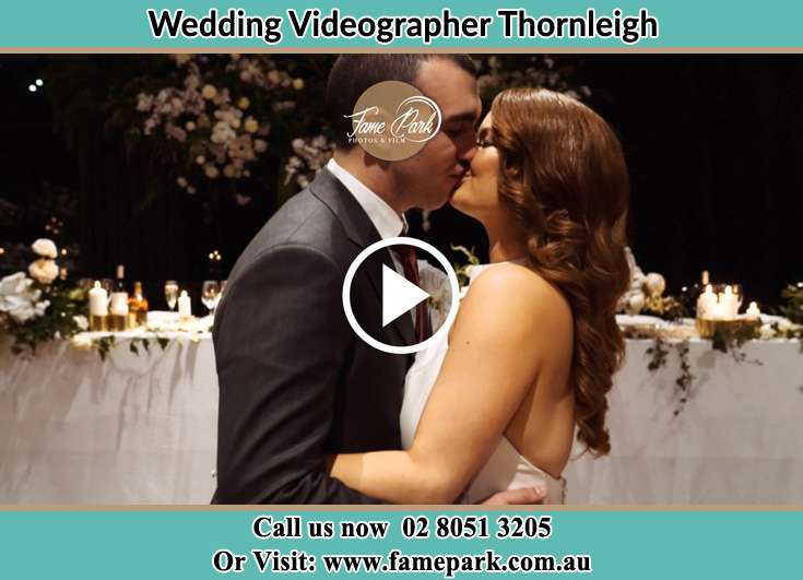 Bride and Groom kissed at the reception Thornleigh NSW 2120