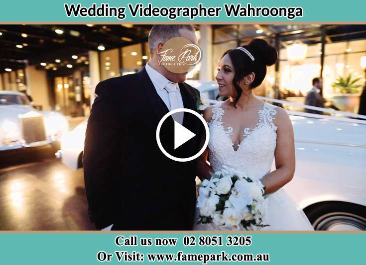 The newlywed arrive at the reception venue Wahroonga NSW 2076