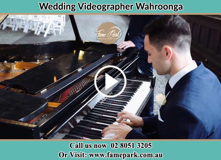 The groom playing piano Wahroonga NSW 2076